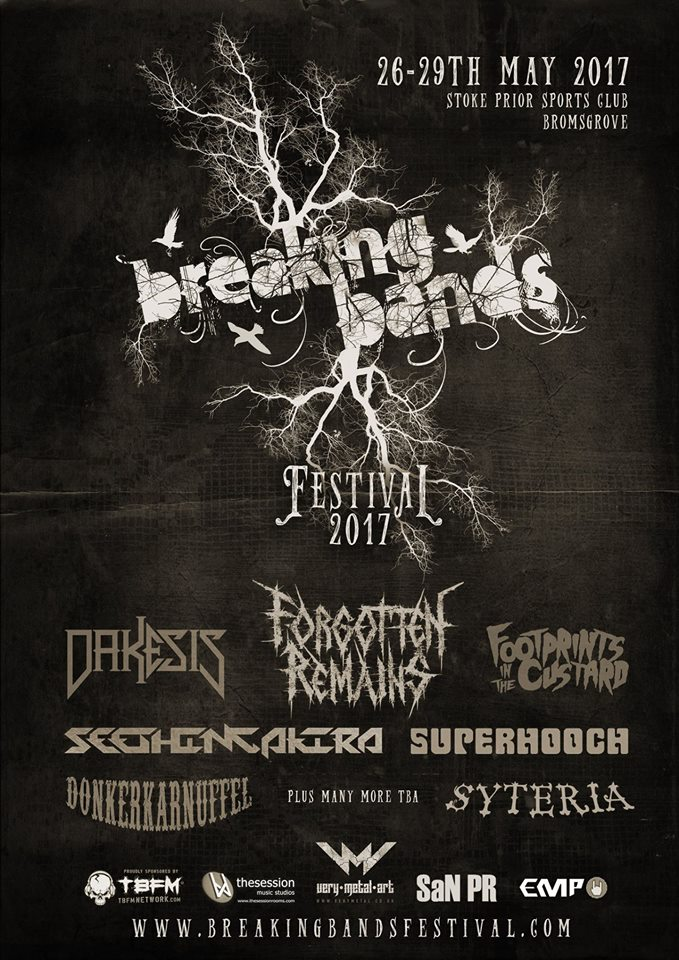Breaking Bands Poster 2017