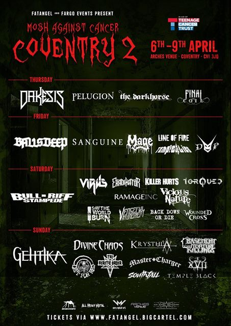 Mosh Against Cancer Coventry 2017