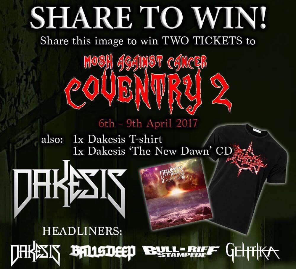 Mosh Against Cancer Coventry Giveaway